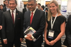 Sabina with Minister Vivian Balakrishna and Chief Justice Sunaresh Meno