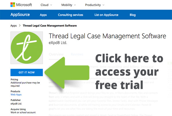 Get a free 21 day free trial from the Microsoft Appsource